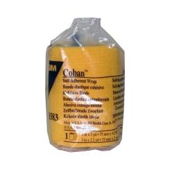 3M Coban Bandage Auto-adhésif Jaune 7.5cm x 4.5m
