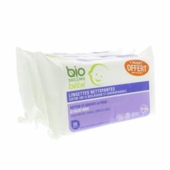 Bio Secure Bébé Lingettes 2x50 + 1 Gratuit