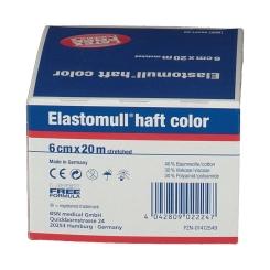 Elastomull® haft Color Bleu 6 cm x 20 m