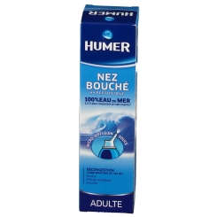HUMER NEZ BOUCHÉ 100% eau de mer – Spray nasal Adulte