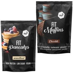 nu3 Fit Pancakes + Fit Muffins chocolat
