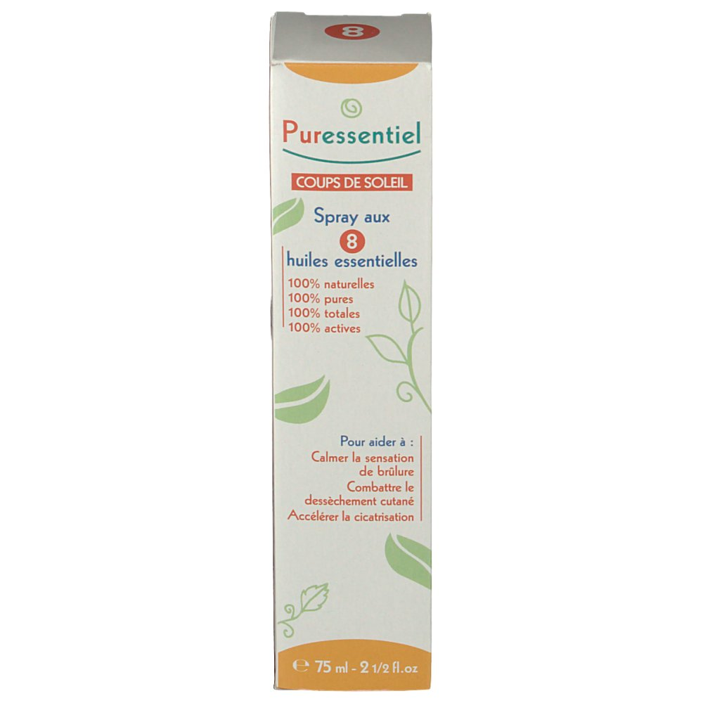 Puressentiel coups soleil spray 8 huiles essentielles shop - Huile essentielle coup de soleil ...