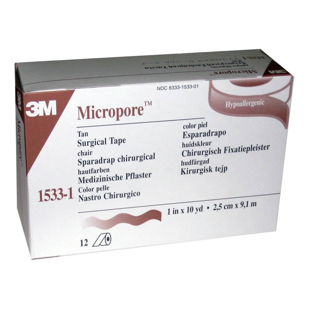 3M Micropore Couleur de la Peau 2.5 x 915 cm