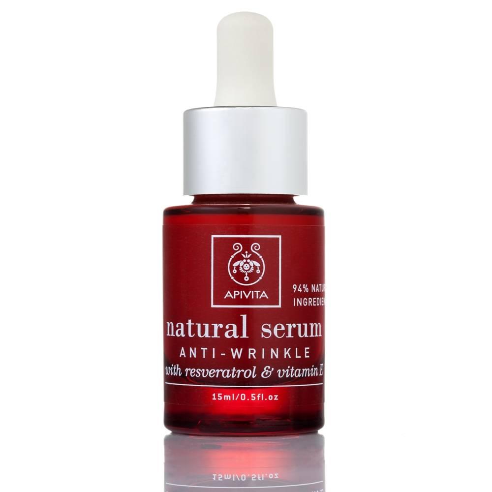 apivita serum naturel anti rides avec vitamine e resveratrol shop. Black Bedroom Furniture Sets. Home Design Ideas