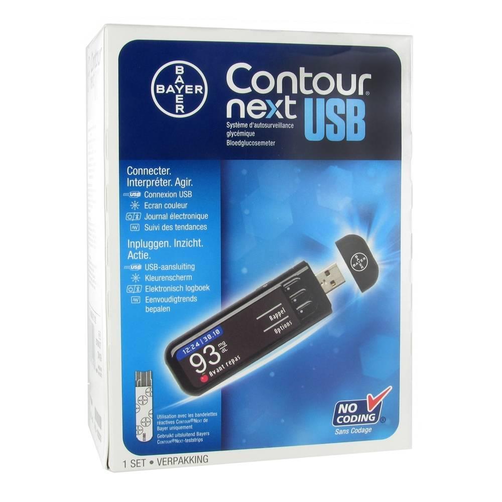nouveau style et luxe nouveaux prix plus bas 100% authentique Bayer Contour Next USB Glucomètre mg/dl - shop-pharmacie.fr