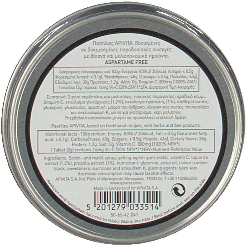 apivita pastilles pour mal de gorge la toux propolis licorice shop. Black Bedroom Furniture Sets. Home Design Ideas
