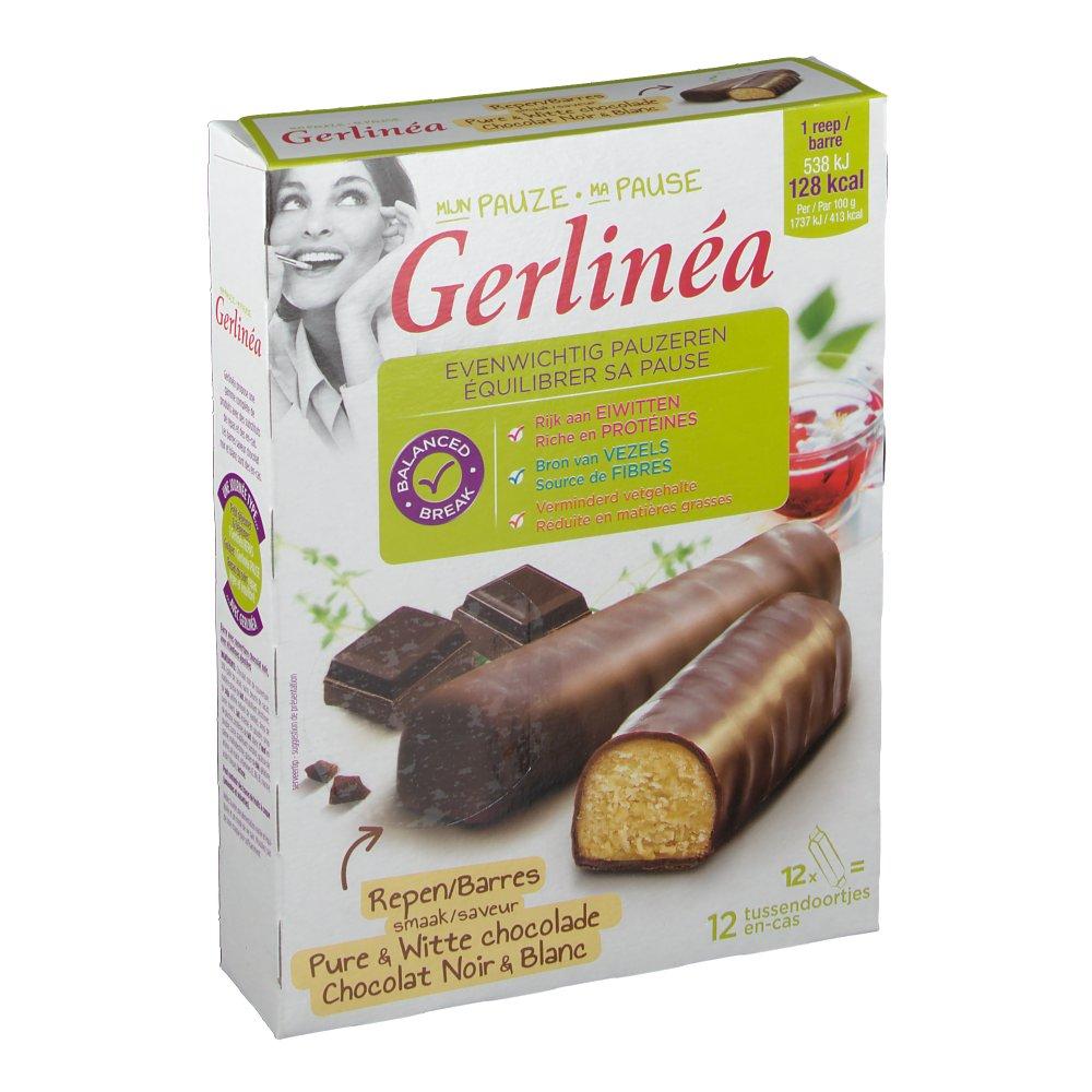 Gerlinéa Ma Pause Barres Chocolat Noir & Blanc - shop ...