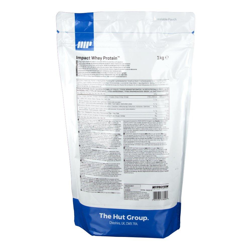 Myprotein The Hut Group: MyProtein® Impact Whey Protein Chocolat Blanc