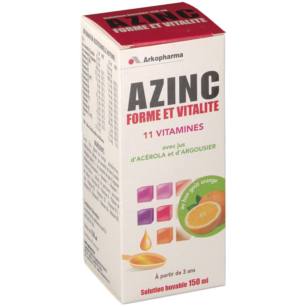 Arkopharma Azinc Forme et Vitalité Optimal Famille 150ml