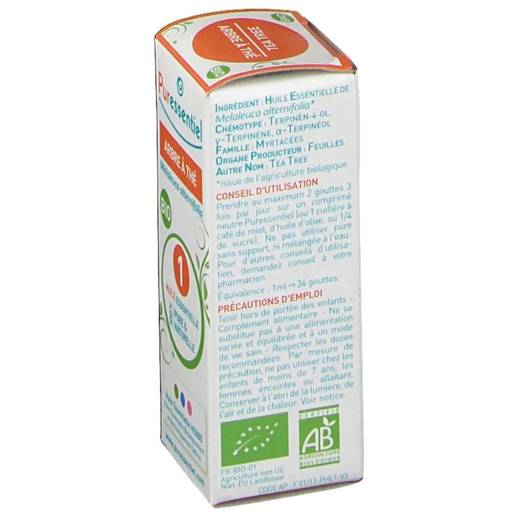 Puressentiel huile essentielle bio arbre th shop - Huile arbre a the ...
