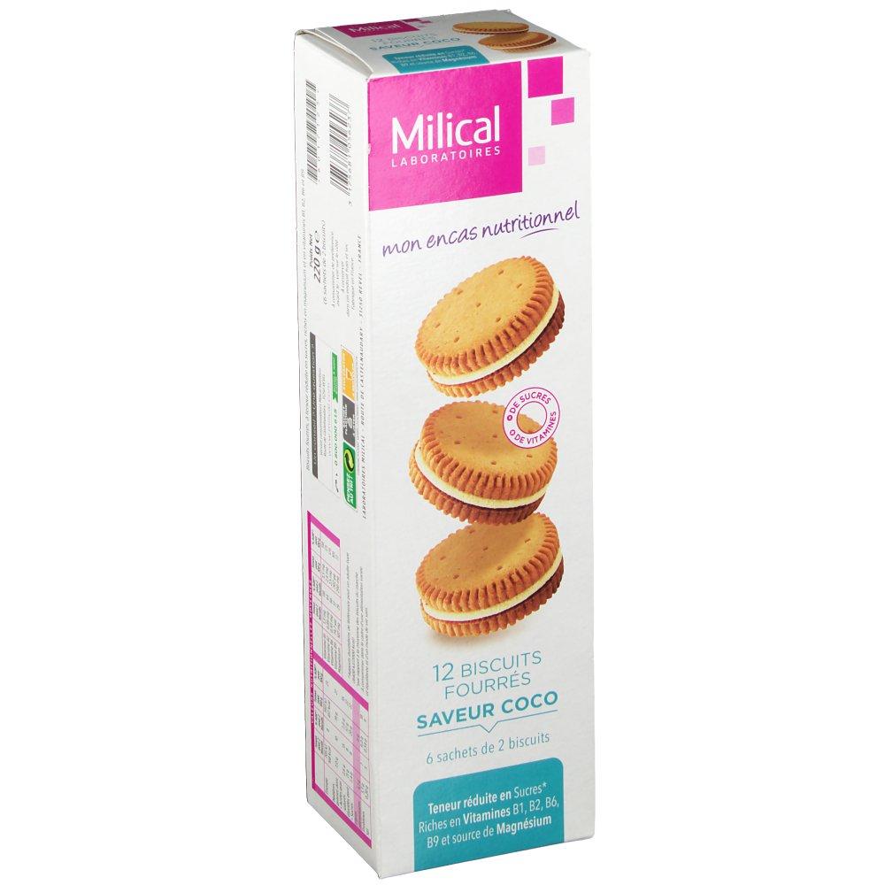 Milical Nutrition biscuits fourrés coco - shop-pharmacie.fr