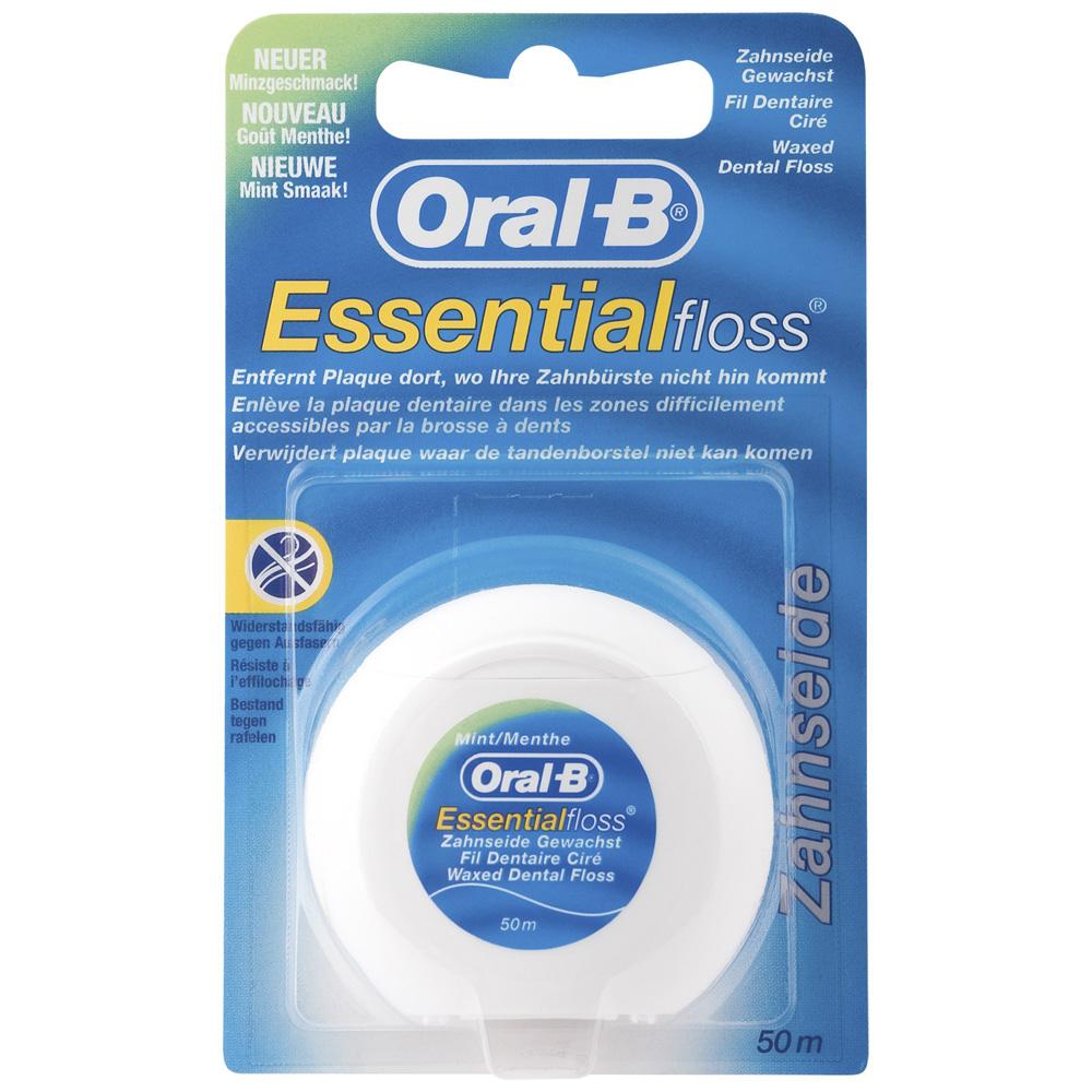 oral b essential floss menthe fil dentaire cir shop. Black Bedroom Furniture Sets. Home Design Ideas