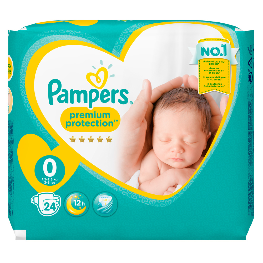 Pampers new baby taille 0 mini 1 5 2 5 kg couches shop - Couches pampers taille 1 ...