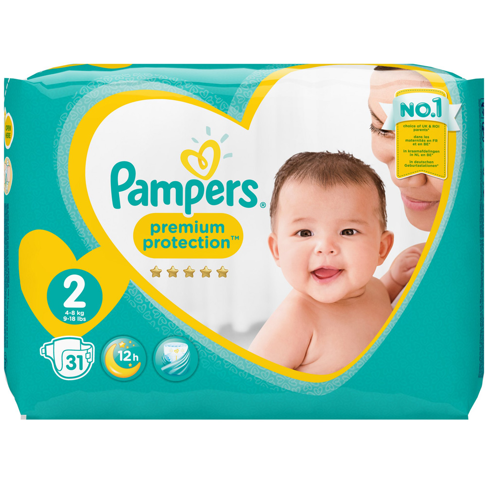 pampers new baby taille 2 mini 4 8 kg couches shop. Black Bedroom Furniture Sets. Home Design Ideas
