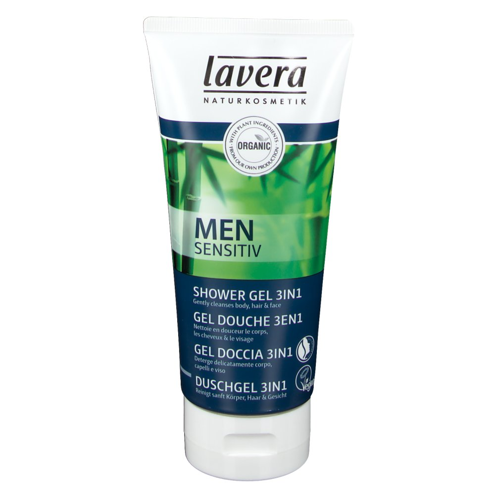 Lavera Men Sensitiv Gel Douche 3en1 Bio 200ml