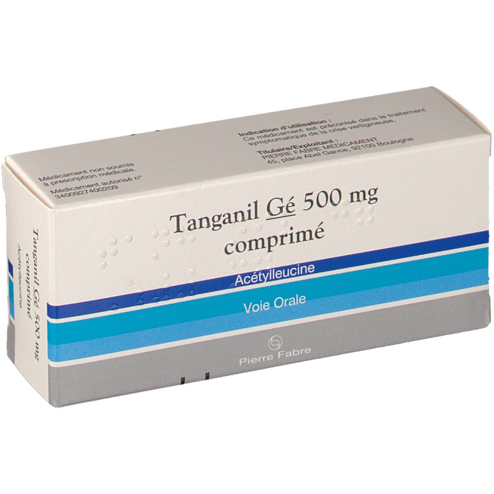 Pierre Fabre Tanganil Gé 500 mg - shop-pharmacie.fr