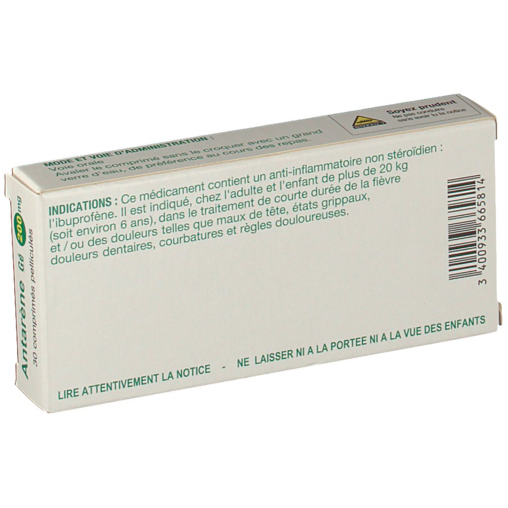 Antarène Gé 200 mg - shop-pharmacie.fr