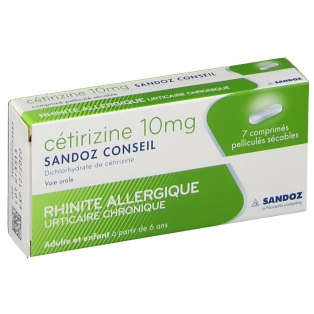 Sandoz Cétirizine 10 mg, 7 - shop-pharmacie.fr